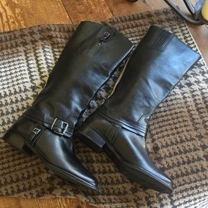 Matisse Leather Wide Calf Riding Boots